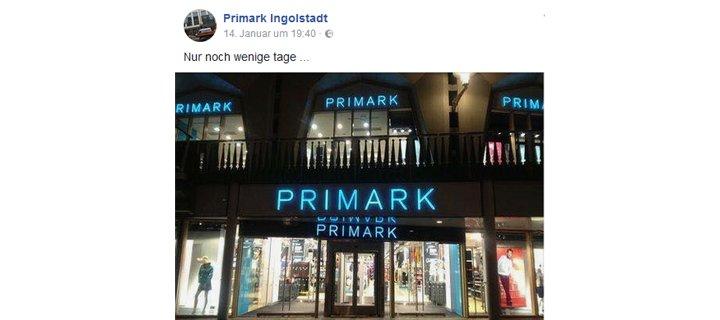 Primark Eröffnung Ingolstadt