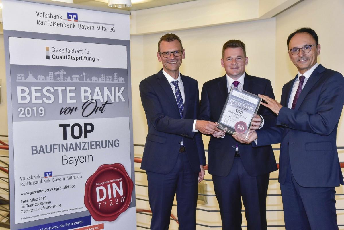 Auszeichnung Volksbank Raiffeisenbank Bayern Mitte eG,VR-Bank,Ingolstadt,